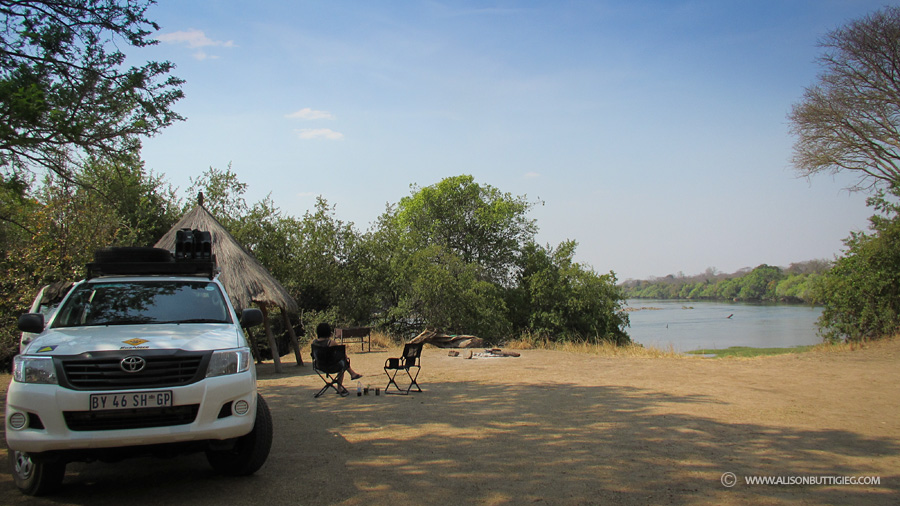Relaxing at Mayukuyuku Campsite, Kafue National Park