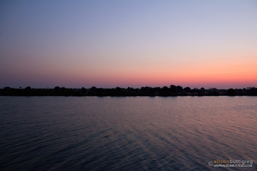 View over the Kafue River from Mukambi