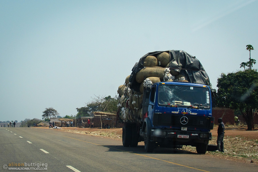 All sorts of trucks on the road