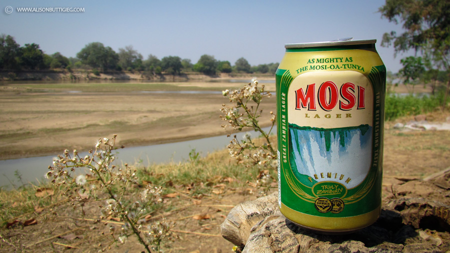 An Ice-Cold Mosi Beer with lunch - this is the life!
