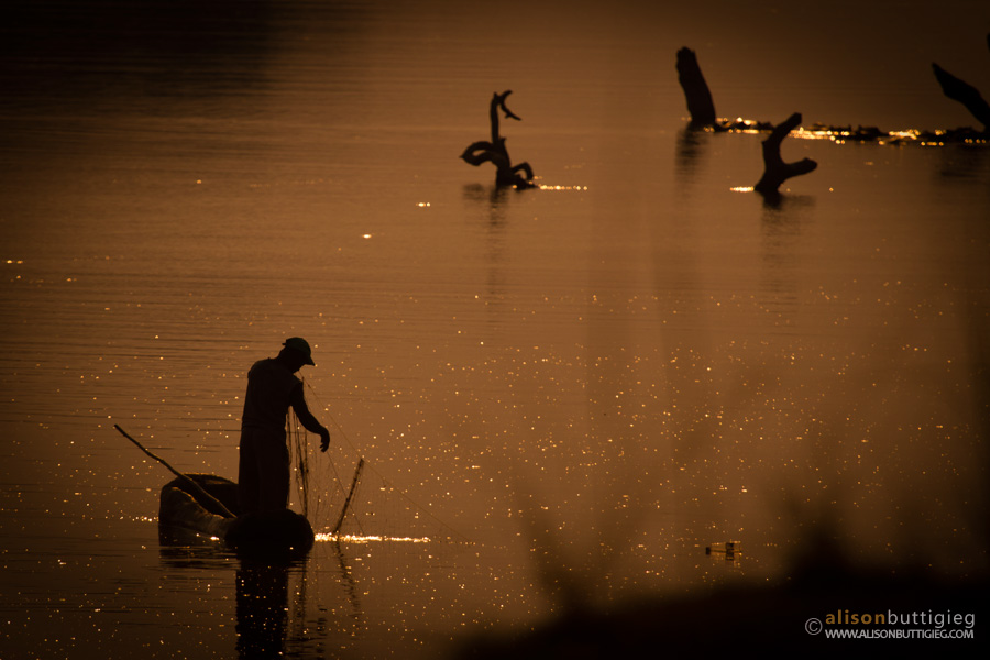 Fisherman on the Luangwa River