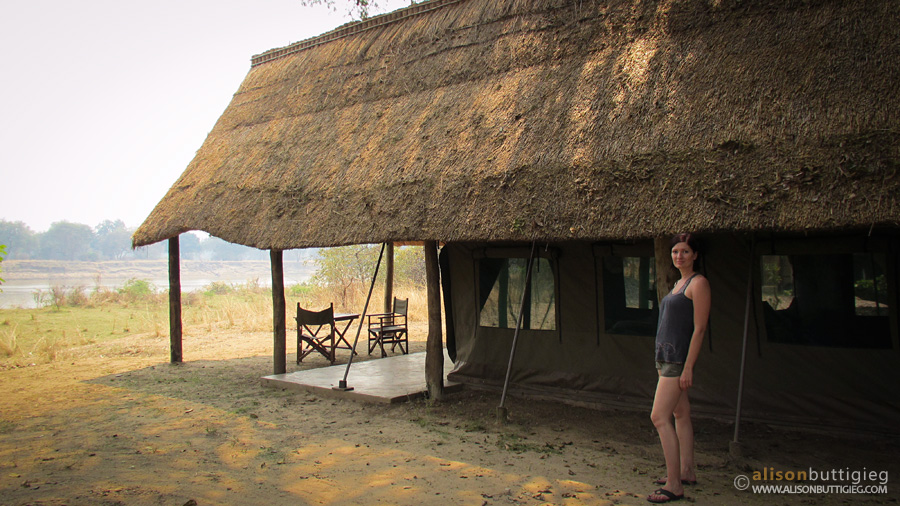 River View Tent at Flatdogs, South Luangwa