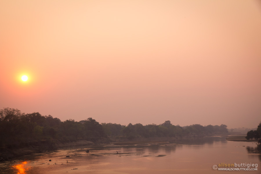 Sunrise over the Luangwa River