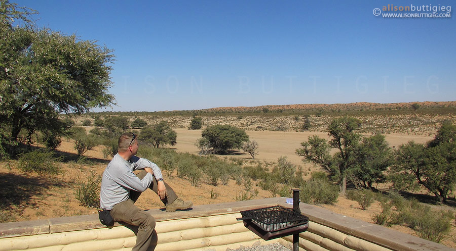 Kalahari Tented Camp - view from Honeymoon Suite